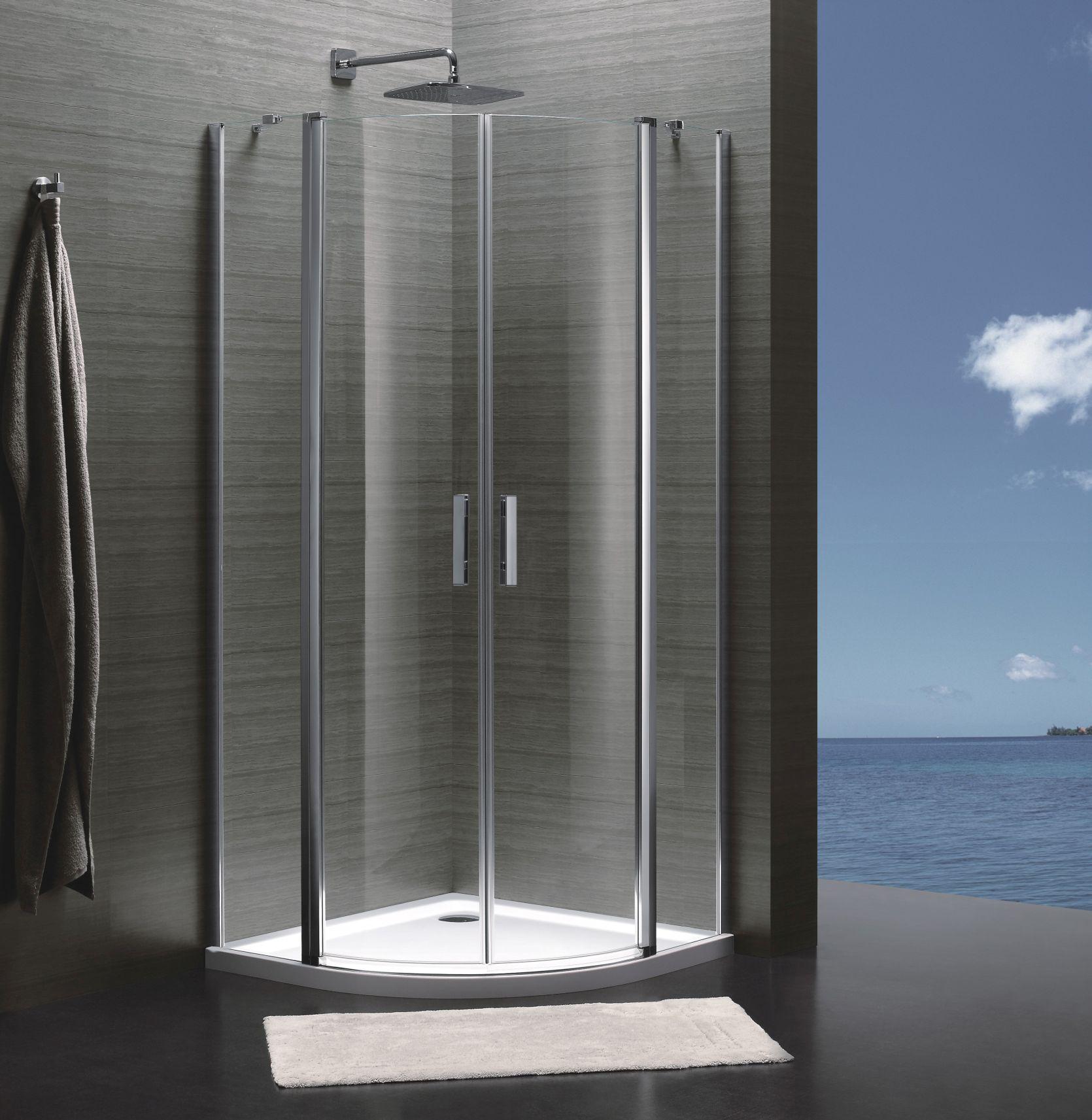 TIME Sprchový kút štvrťkruh