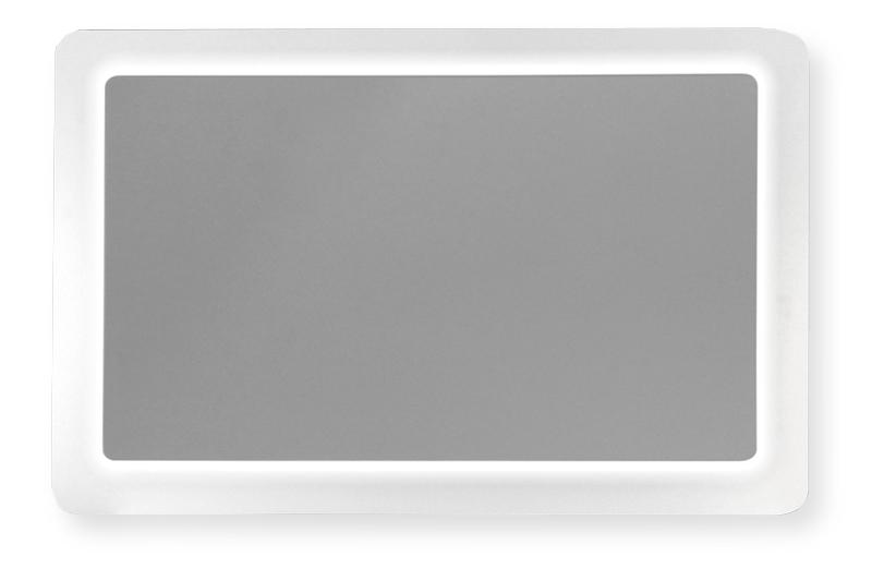 White zrkadlo s led osvetlením