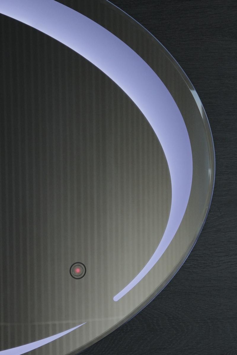 Elipse zrkadlo s led osvetlením