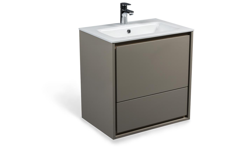 Cube skrinka s umývadlom cappuccino lesklá