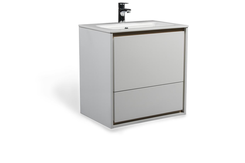 Cube skrinka s umývadlom biela lesklá