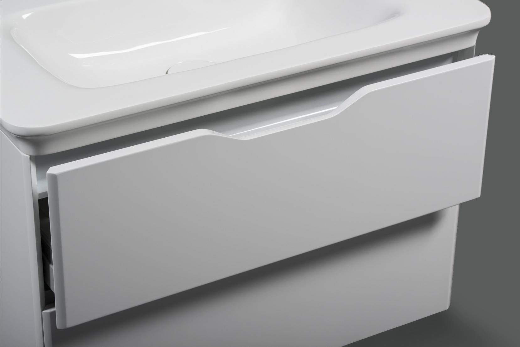 Victory skrinka s umývadlom biela lesklá