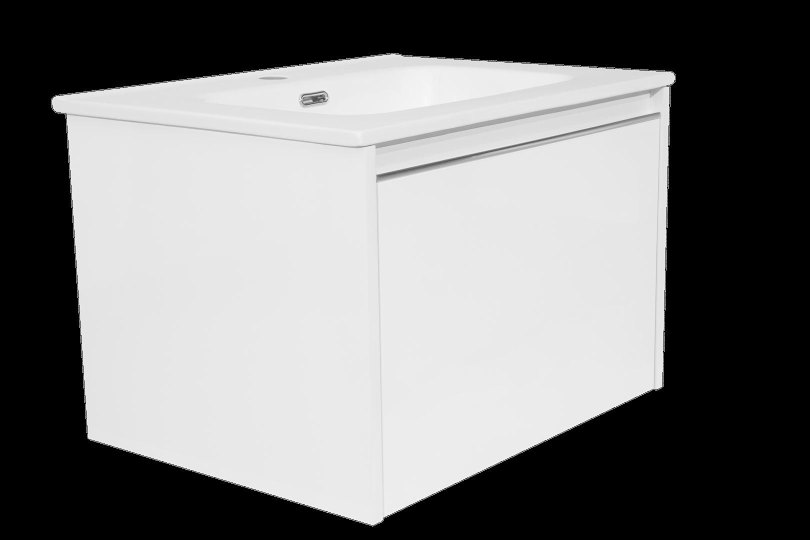 Charm skrinka s umývadlom biela lesklá