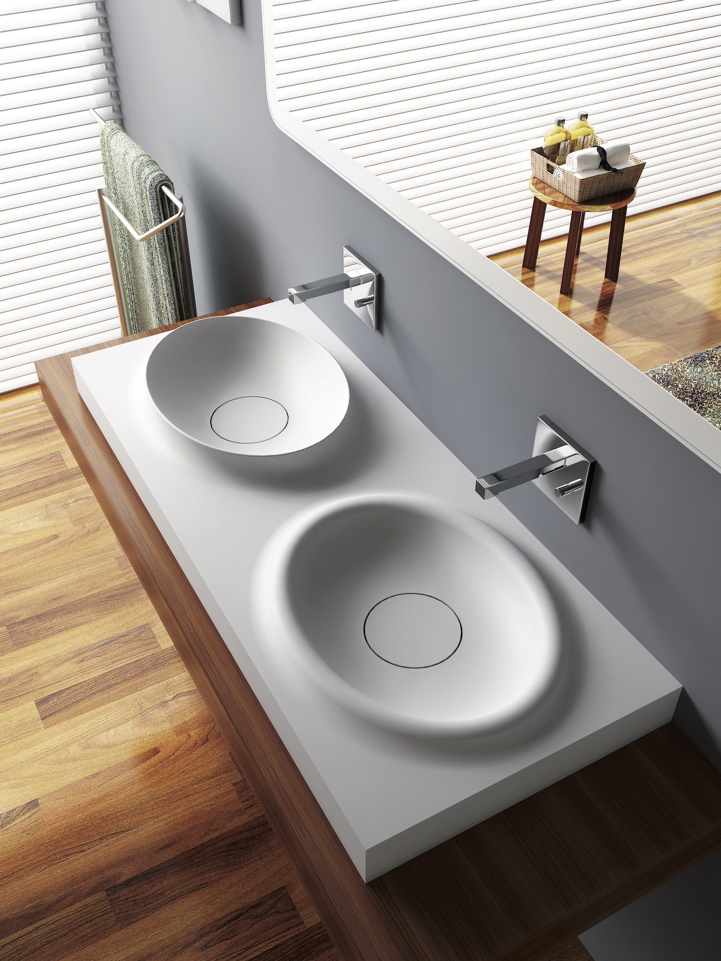 DOUBLE - umývadlo na dosku